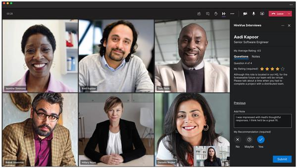 HireVue Launches HireVue Interviews for Microsoft Teams